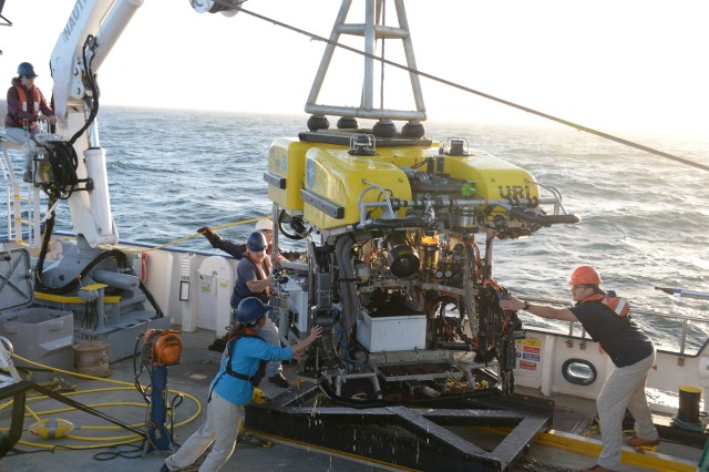 Ocean Exploration Trust staff aboard E/V Nautilus, Channel Islands Marine Sanctuary