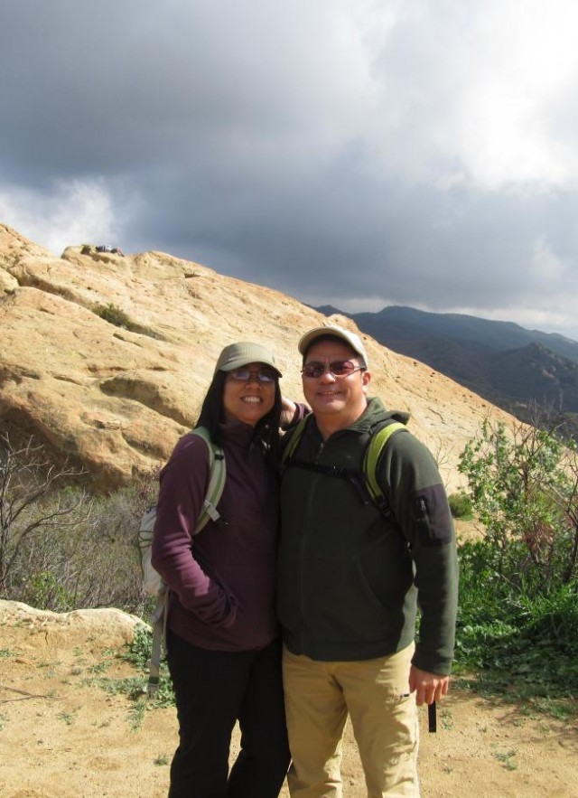 Dennis and Gerri hiking in Topanga State Park
