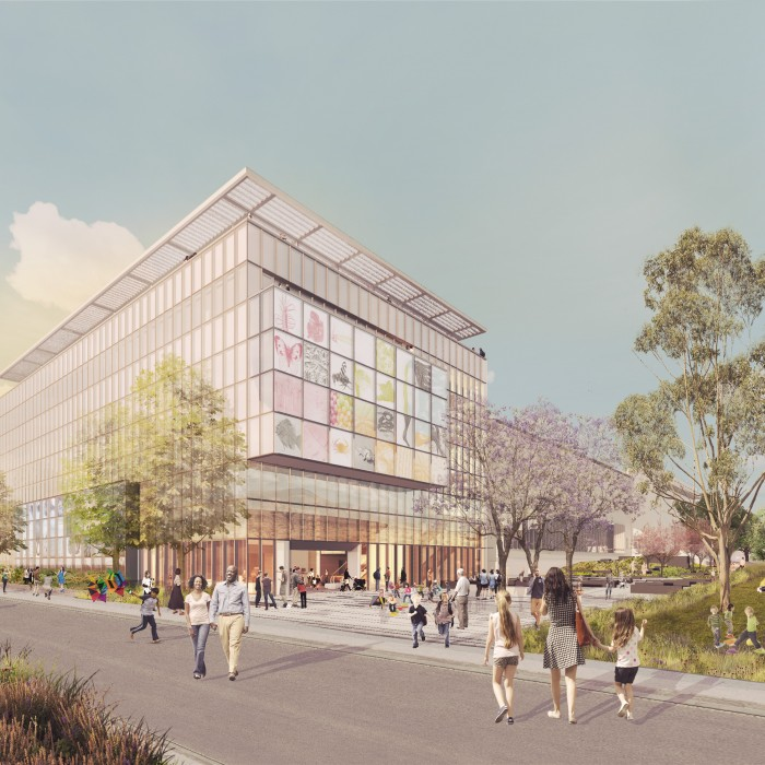 rendering for NHM west project center for nature and culture CNC