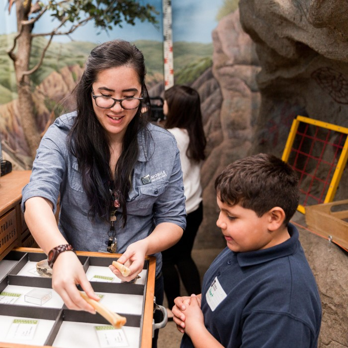 mobile museum archaeology experience NHM programs