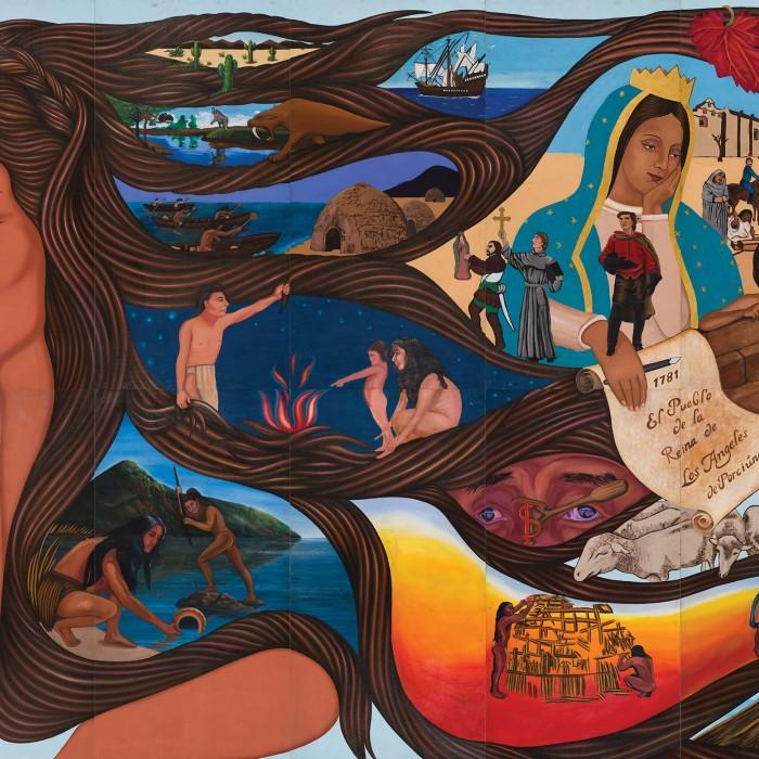 left side of sin censura mural