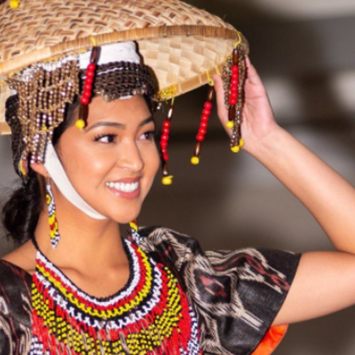 Salakot and traditional dress