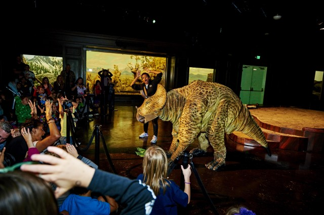 Dinosaur Encounters Show Triceratops Puppet