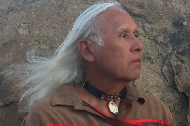 Alan Salazar, elder of the Chumash and Tataviam tribes.