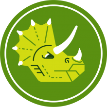 Icon of a triceratops to represent dinosaurs