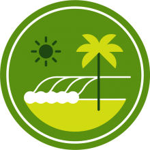 Icon of the beach to represent Los Angeles