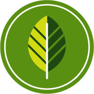 Icon of a leaf to represent nature